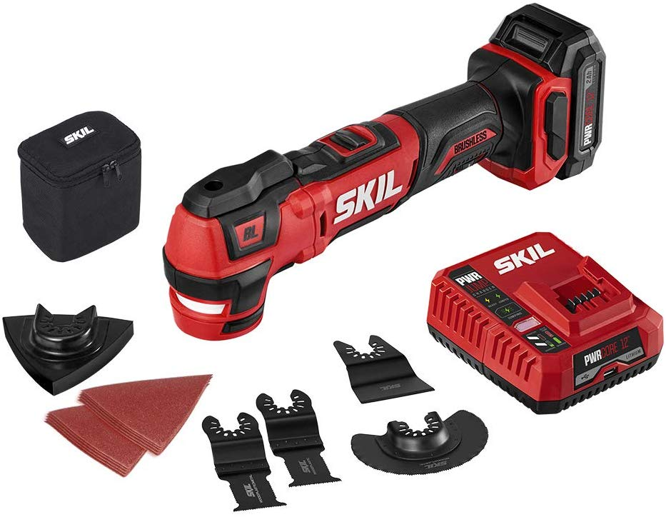 SKIL PWR CORE 12 Brushless 12V Oscillating Tool Kit